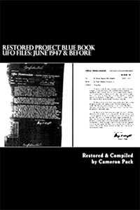 Restored Project Blue Book UFO Files: June 1947 & Before